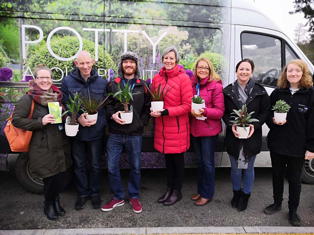 Perrywood Garden Centre Tiptree Donates £350 Worth of Houseplants to Offices at Colchester Hospital!