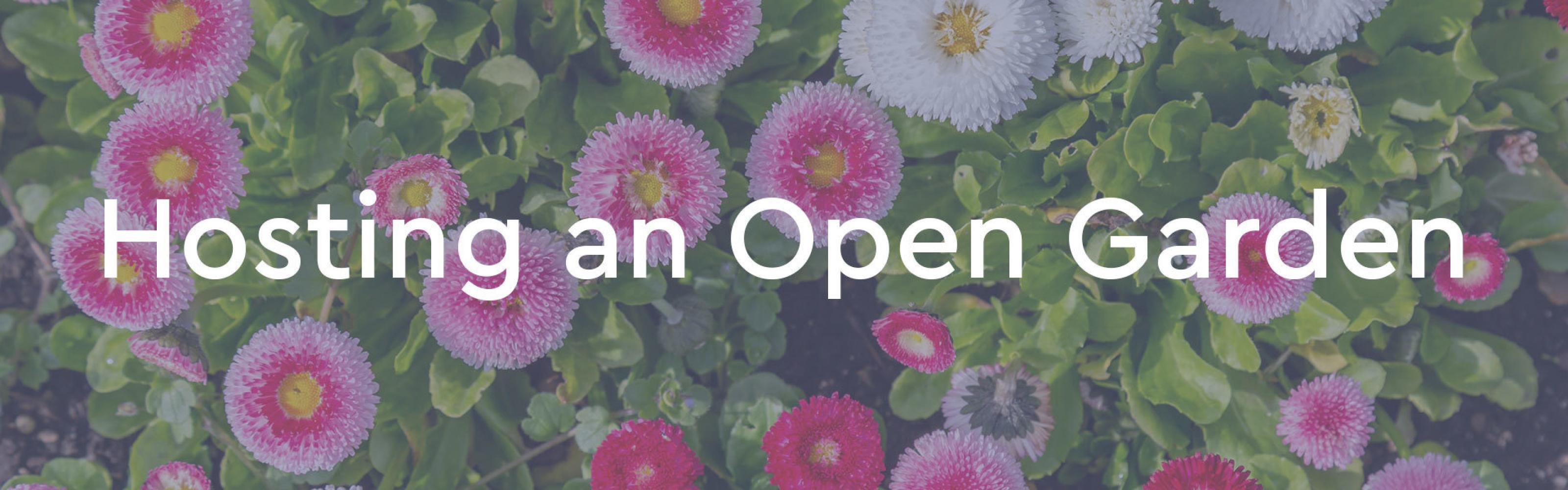 Hosting an Open Garden