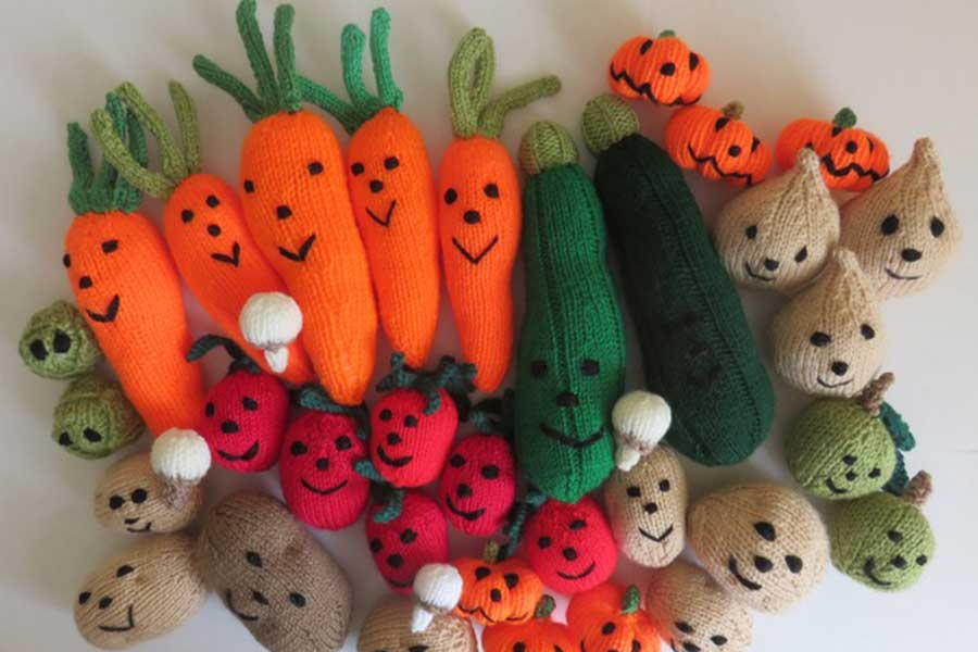 Market Stall Fibre Arts and Vegetable People - Day 1 and 2